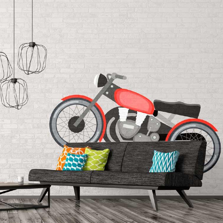 wall stencil bike