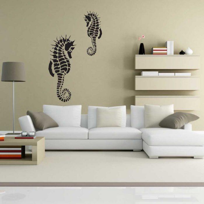 wall stencil living room