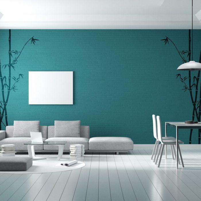bedroom wall stencils design